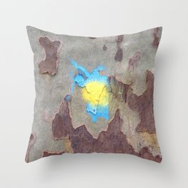 NVSV SPCS_yellow and blue blaze Throw Pillow