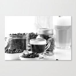 Black and white coffee bar Canvas Print