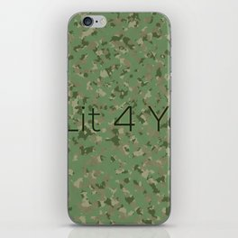 2 LIT 4 YOU iPhone Skin