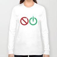 ohm Long Sleeve T-shirts featuring Vape start ohm liquid by nicksoulart