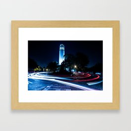 Coit Tower by nigth San Francisco Framed Art Print