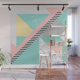 Modern mint geometric abstract minimal design Wall Mural