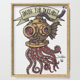 Octopus Diver Serving Tray