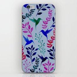 Watercolor Floral & Birds iPhone Skin