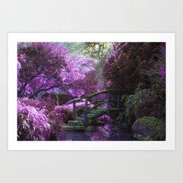 Monet's Garden (Color) Art Print