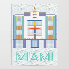 Miami Landmarks - The Berkeley Shore Poster