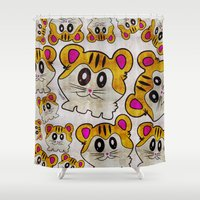 rap Shower Curtains featuring Rap Rats by EarlyHuman