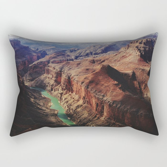 The Colorado Runs Through Marble Canyon Rectangular Pillow