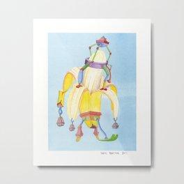 Banana Peeler Metal Print