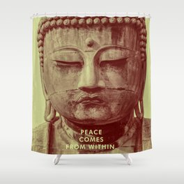 Buddha Duotone 3 Shower Curtain