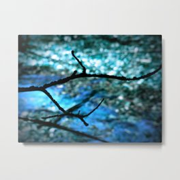Turquoise Blue Nature Abstract Metal Print