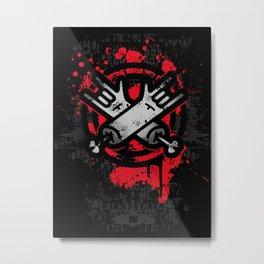 Blood metal Metal Print