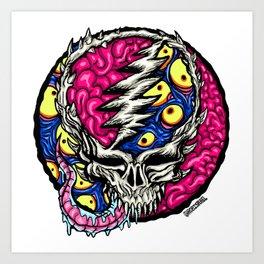 Trippy Skull Art Print