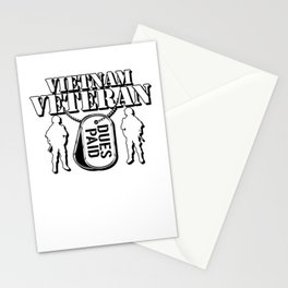 Vietnam Veteran - Dues Paid For Patriotic Soldiers Stationery Cards