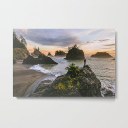 Secret Beach Along The Oregon Coast Metal Print