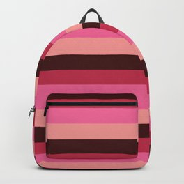 Red Roses Linear Abstract pattern Backpack