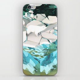 Low Poly Artic Scenes - Polar Bear (Isometric) iPhone Skin