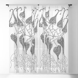 Stanley Abstract Sheer Curtain