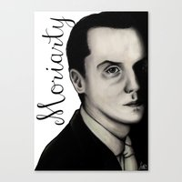 moriarty Canvas Prints featuring Moriarty by LiseRichardson