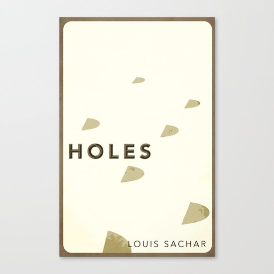 Holes by Louis Sachar: Book Cover Re-design # 8 Canvas Print