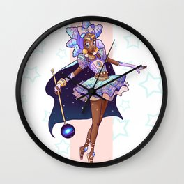 African Magical Girl Wall Clock