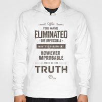 quotes Hoodies featuring Detective Quotes by CHOCOMINT GEEK