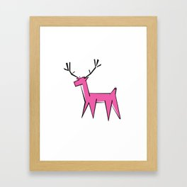 Pink deer  Framed Art Print