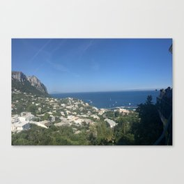 view from capri Canvas Print