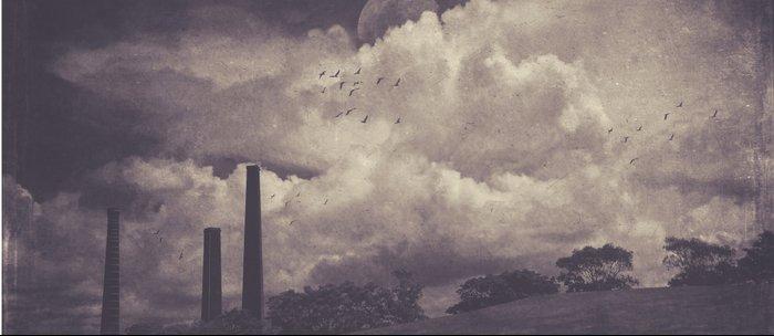 Brick works chimneys at Sydney Park Coffee Mug
