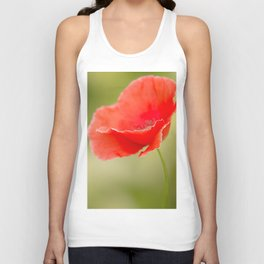 Miss you so much Red Poppy #decor #society6 Unisex Tank Top