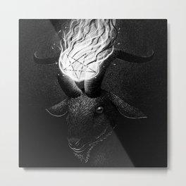 Drawlloween 2015: Devil Metal Print