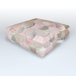 MERMAID SHELLS - CORAL ROSEGOLD Outdoor Floor Cushion
