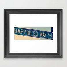 Happiness Way Framed Art Print