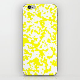 Spots - White and Yellow iPhone Skin