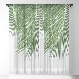 Delicate palms Sheer Curtain