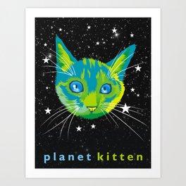 Planet Kitten Art Print