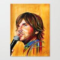 jon contino Canvas Prints featuring Jon Lajoie by Jenna Karl