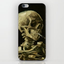 Skull of a Skeleton with Burning Cigarette by Vincent van Gogh iPhone Skin