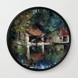 Asai Chu Washing Place in Grez-sur-Loing Wall Clock