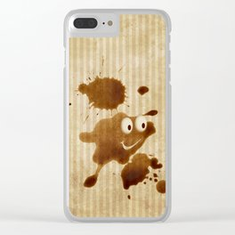 The Smile of Coffee Drop - Old Paper Style Clear iPhone Case