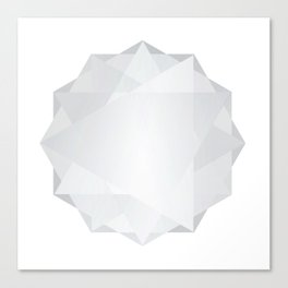 Poly Constellation (White) Canvas Print