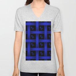 Blue Skulle Pattern Unisex V-Neck