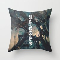 heroes Throw Pillows featuring Heroes by bica Studio