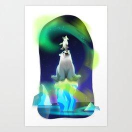 Polar magic Art Print
