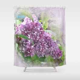 Soft Lilac Shower Curtain