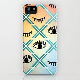 Original Colorful Eyes Design iPhone Case