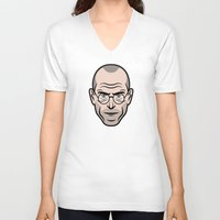 steve jobs V-neck T-shirts featuring STEVE JOBS by Kojó Tamás