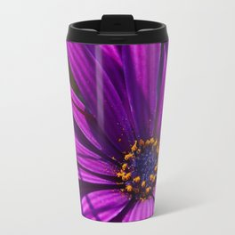 Purple African Daisy Close Up Travel Mug