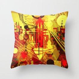Steampunk city Throw Pillow
