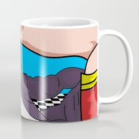 super heroes Mugs featuring super heroes by mark ashkenazi